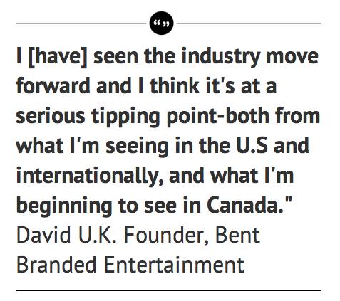David UK Quote on Branded Conten